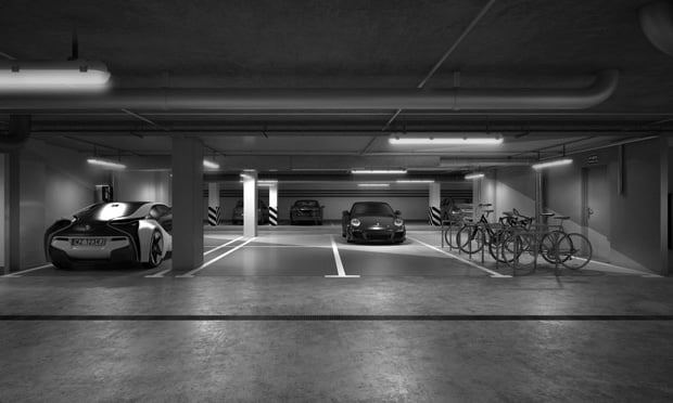 Parking Blue Media B&W